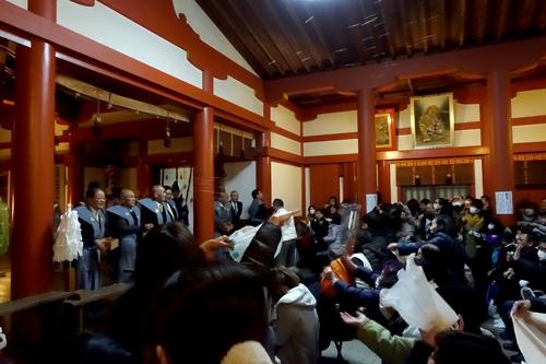 亀山神社節分祭豆まき