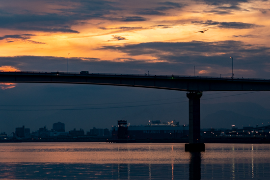 広島湾の夕景