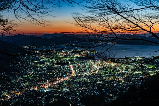 灰ヶ峰からの呉市を一望