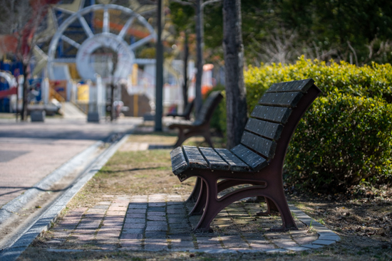 広島県呉市焼山公園のベンチ