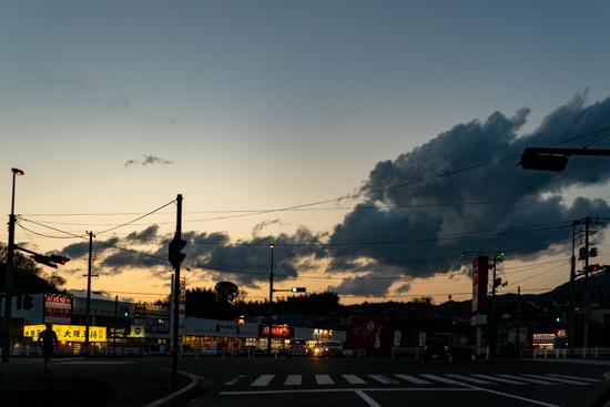 呉市焼山の夕景