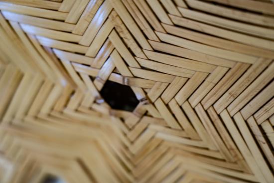 竹の館-蜘蛛の巣編み