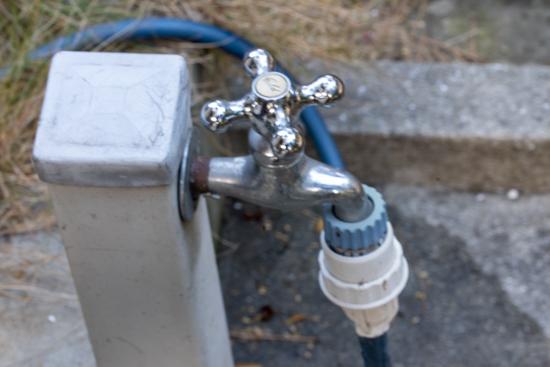 散水栓の凍結